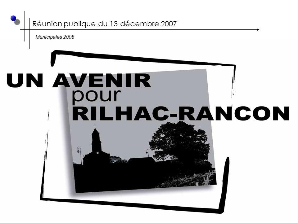 Réunion publique du 13 décembre 2007 Municipales 2008