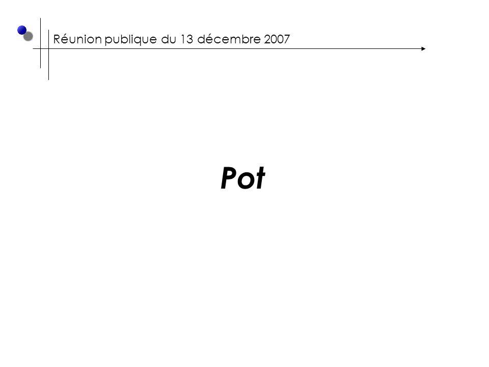 Réunion publique du 13 décembre 2007 Pot