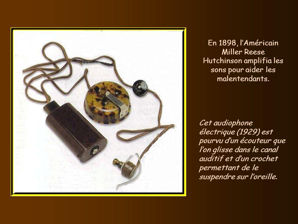 En 1898, Valdemar Poulsen, un ingénieur danois, inventa le premier système d'enregistrement sonore magnétique. Ci-dessus, le télégraphone de Poulsen,