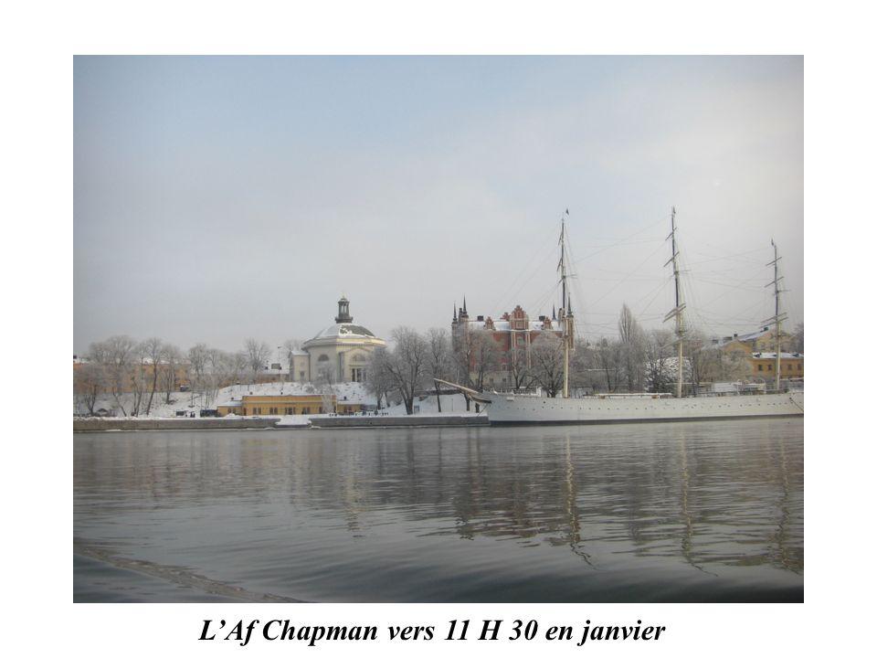 L'Af Chapman vers 11 H 30 en janvier