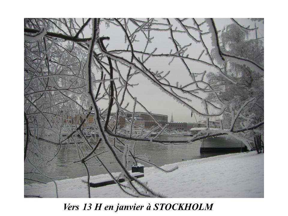Vers 13 H en janvier à STOCKHOLM