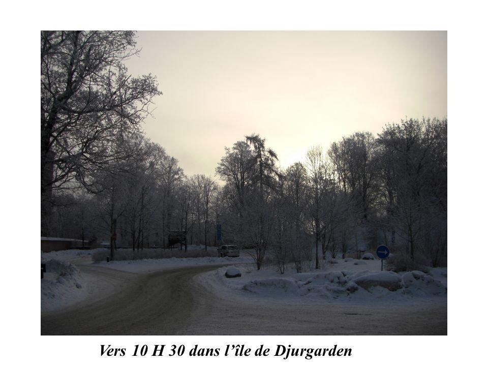 Vers 10 H 30 dans l'île de Djurgarden