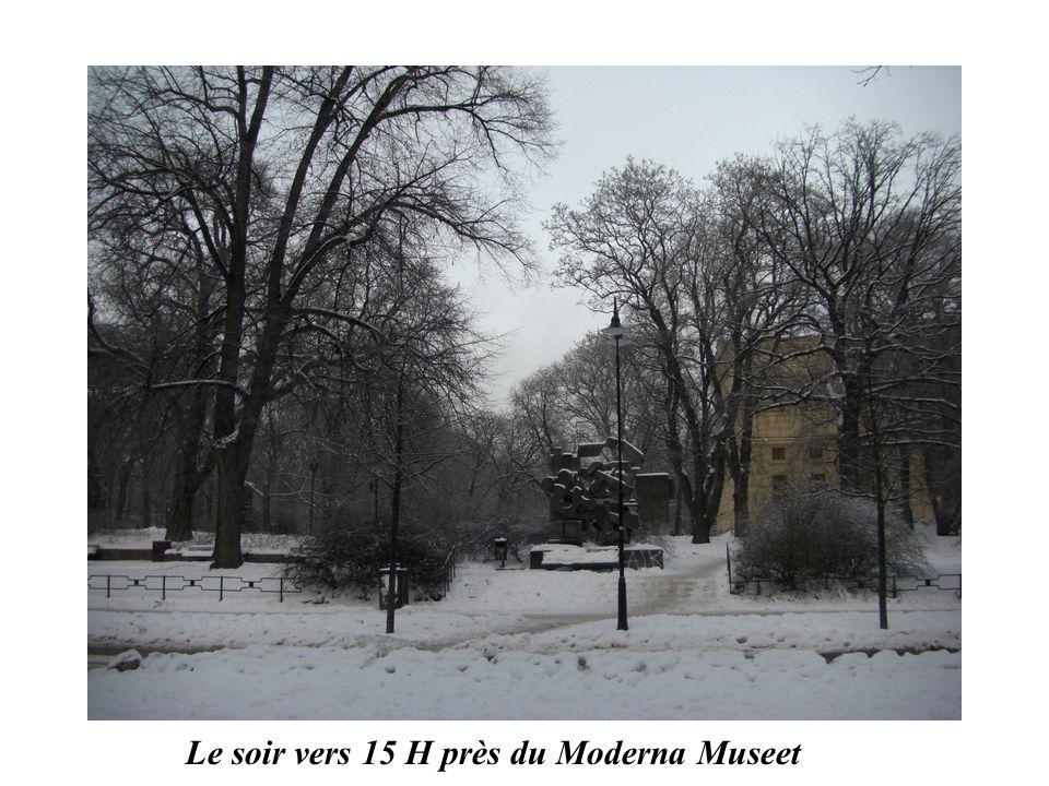 Le soir vers 15 H près du Moderna Museet