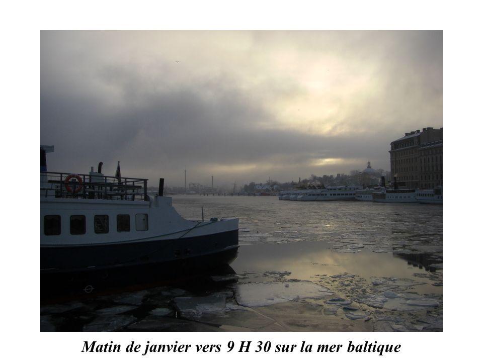 Matin de janvier vers 9 H 30 sur la mer baltique