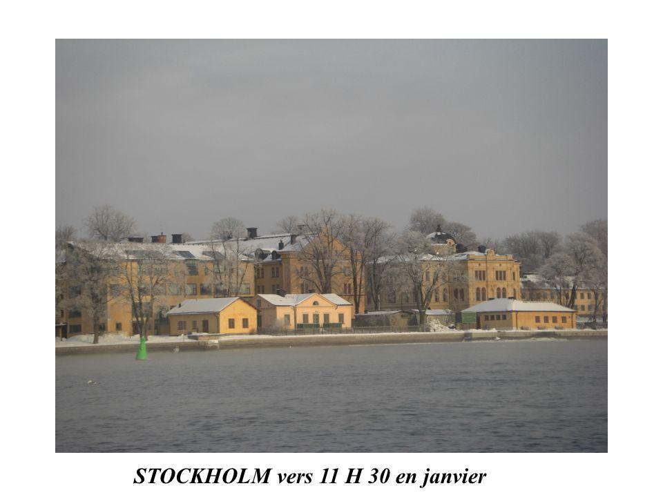 STOCKHOLM en couleur vers 13 H