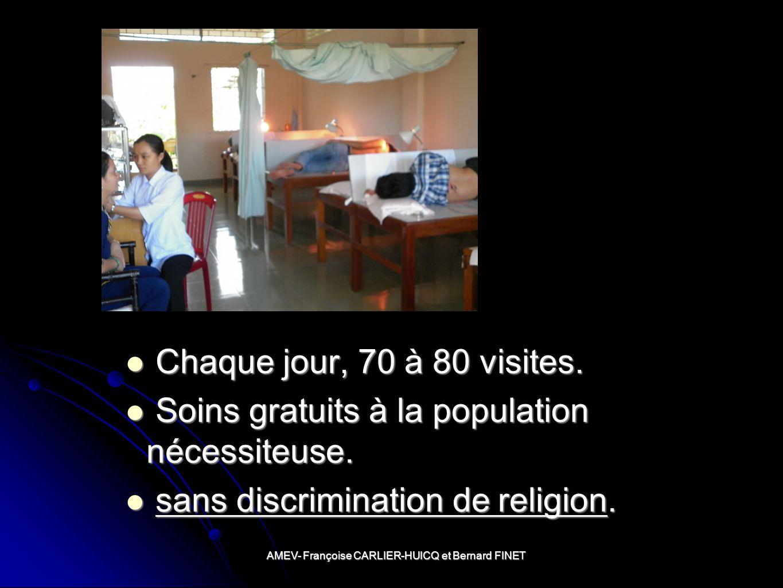AMEV- Françoise CARLIER-HUICQ et Bernard FINET Chaque jour, 70 à 80 visites.