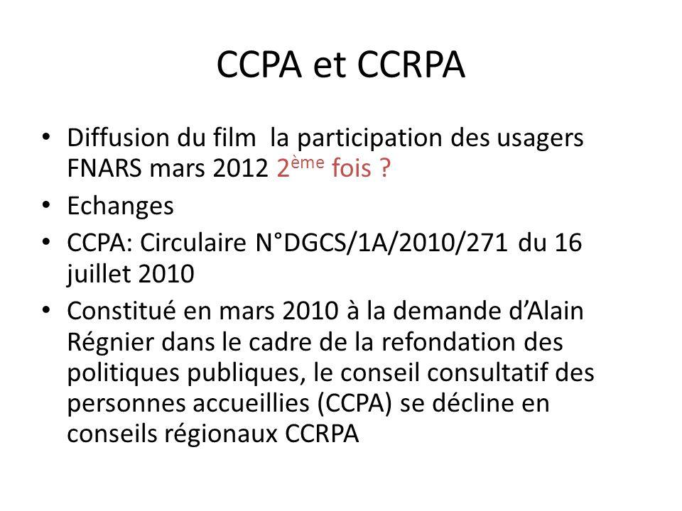 CCPA et CCRPA Diffusion du film la participation des usagers FNARS mars 2012 2 ème fois .