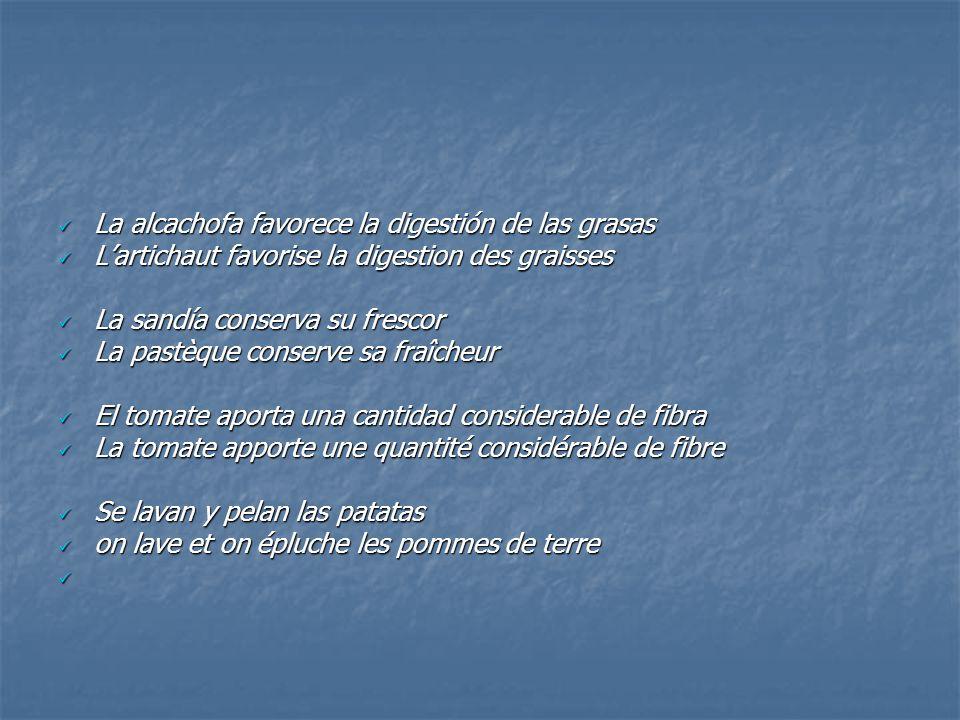 La alcachofa favorece la digestión de las grasas La alcachofa favorece la digestión de las grasas L'artichaut favorise la digestion des graisses L'art
