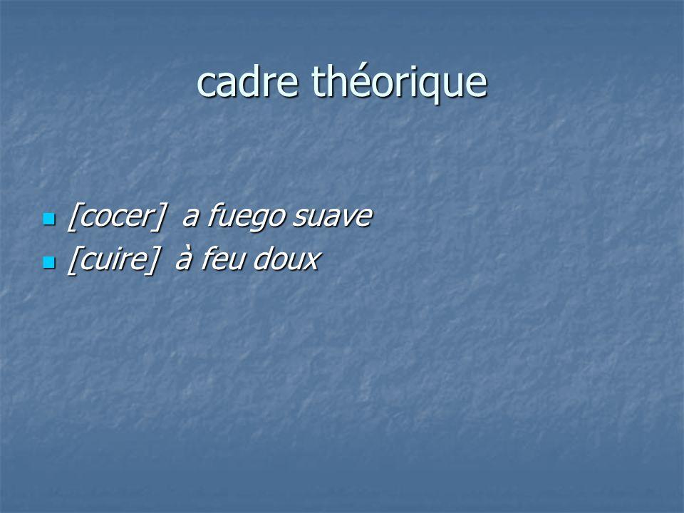 cadre théorique [cocer] a fuego suave [cocer] a fuego suave [cuire] à feu doux [cuire] à feu doux