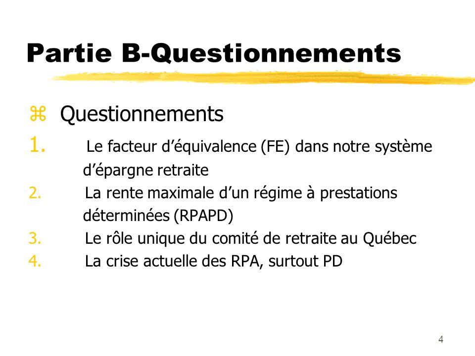 65 Facteur d'équivalence rectifié (FER) zLe facteur d'équivalence rectifié (FER), introduit en 1997, répond, en partie, aux préoccupations soulevées quant aux problèmes que pouvait créer l'utilisation du facteur 9 dans le calcul du FE.
