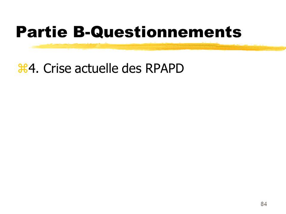 84 Partie B-Questionnements z4. Crise actuelle des RPAPD