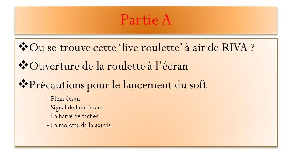 Partie A  Ou se trouve cette 'live roulette' à air de RIVA .