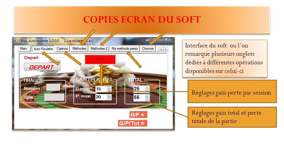 ANNEXE 1.Copies d'écran du soft 2.Une démo et explication des différents réglages 3.Et en conclusion mes remerciements et mes conseils.