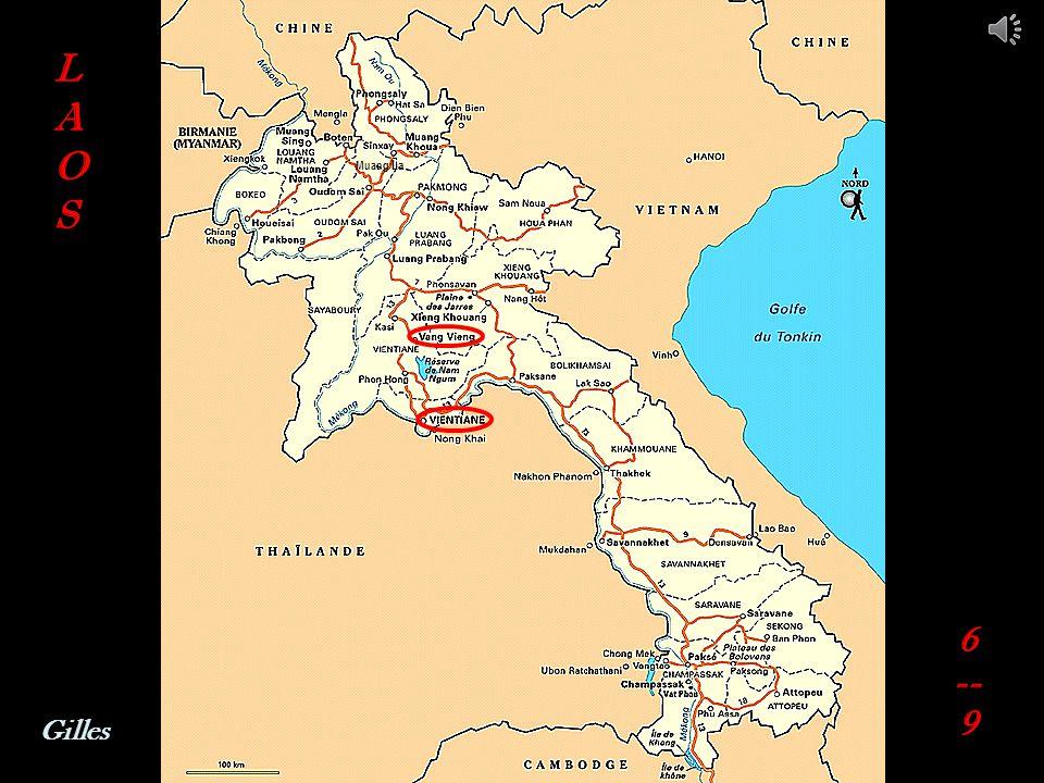Route VANG VIENG - VIENTIANE Vallée des éléphants Site archéologique Vang Xang