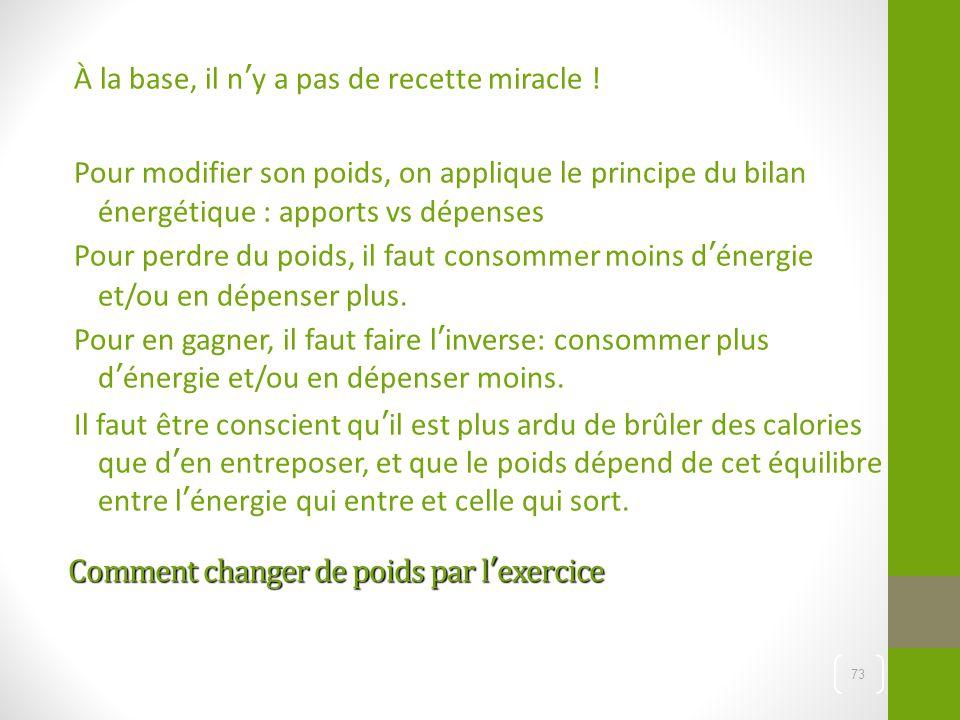 Comment changer de poids par l'exercice Comment changer de poids par l'exercice À la base, il n'y a pas de recette miracle ! Pour modifier son poids,