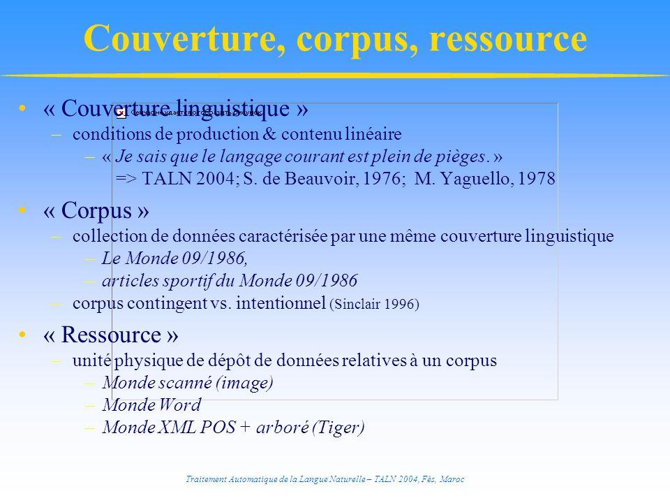 Traitement Automatique de la Langue Naturelle – TALN 2004, Fès, Maroc Annotation syntaxique FrAG (French Annotation Grammar, E.