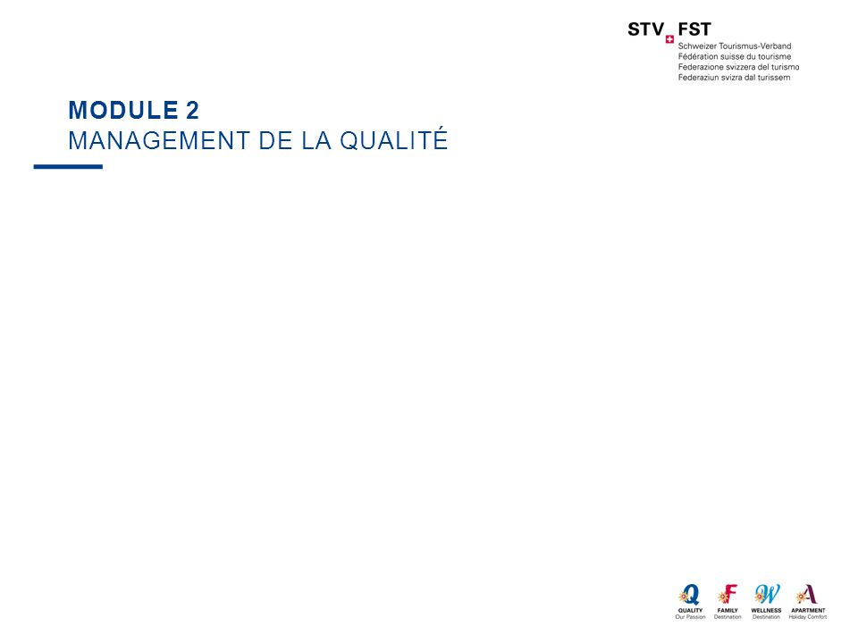 MODULE 2 MANAGEMENT DE LA QUALITÉ