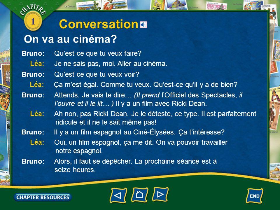 1 Conversation On va au cinéma?