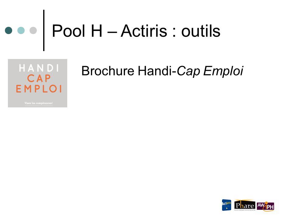 Brochure Handi-Cap Emploi Pool H – Actiris : outils