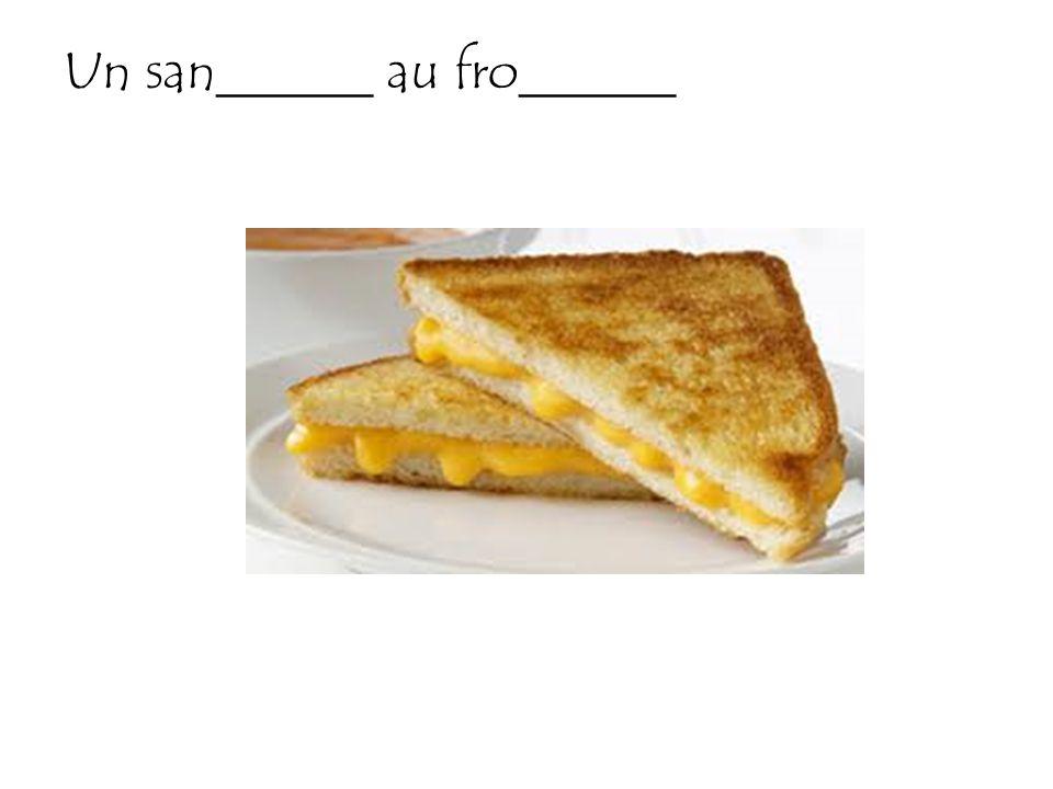 Un san______ au fro______