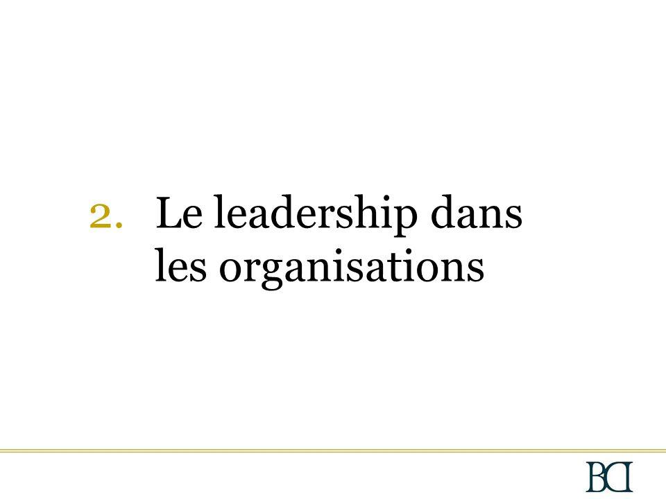 2.Le leadership dans les organisations