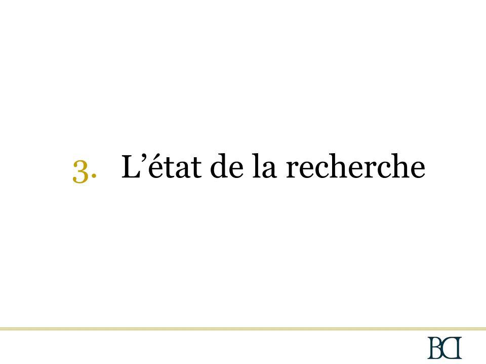 3.L'état de la recherche