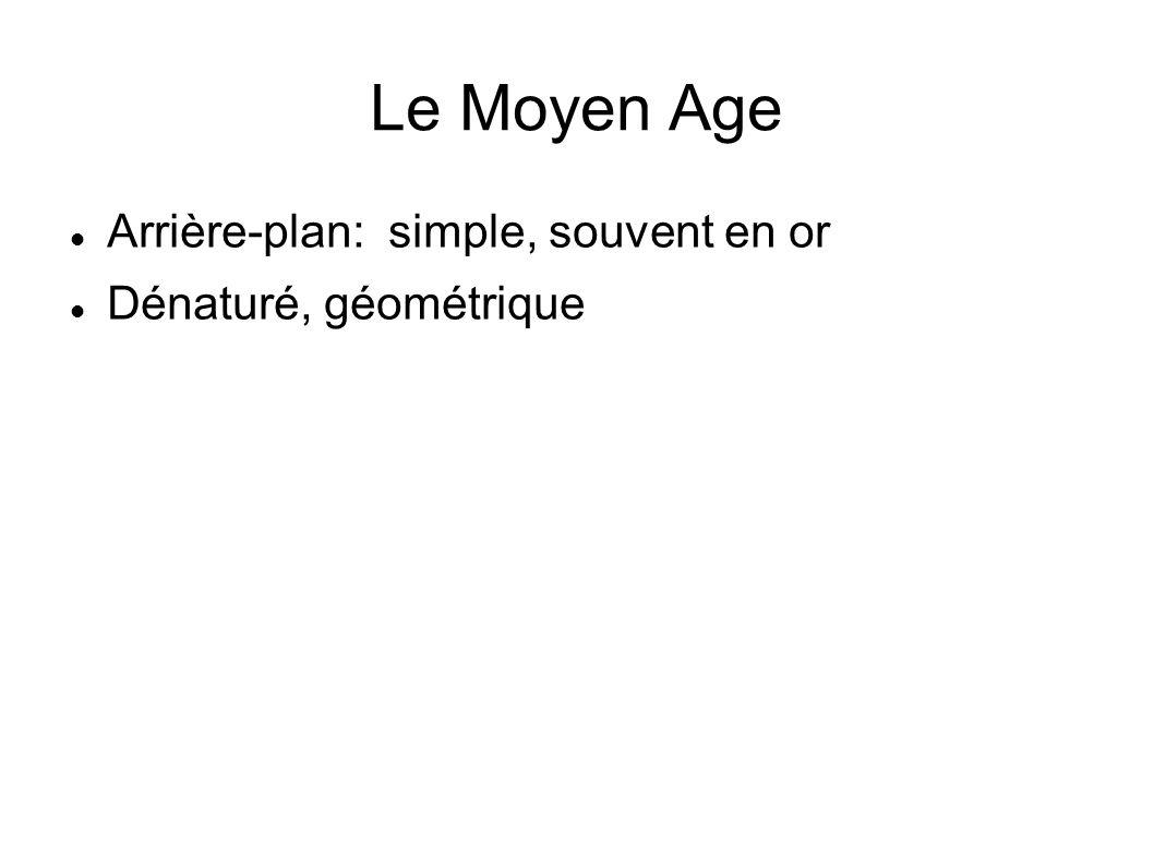Le Moyen Age Arrière-plan: simple, souvent en or Dénaturé, géométrique