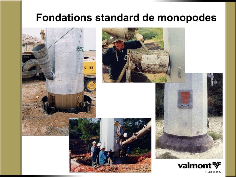 Fondations standard de monopodes
