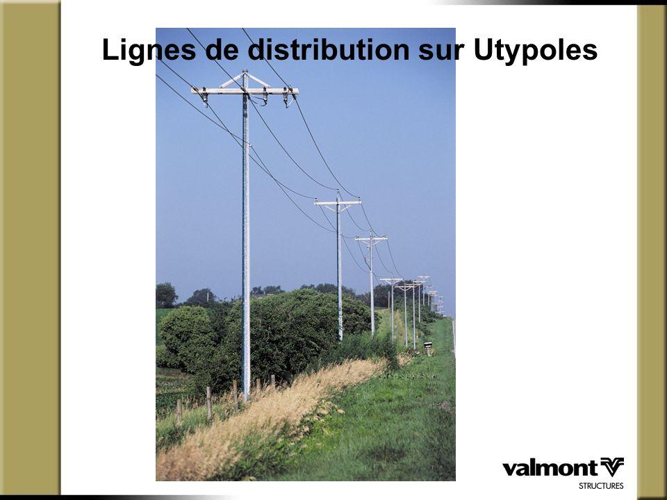 Lignes de distribution sur Utypoles
