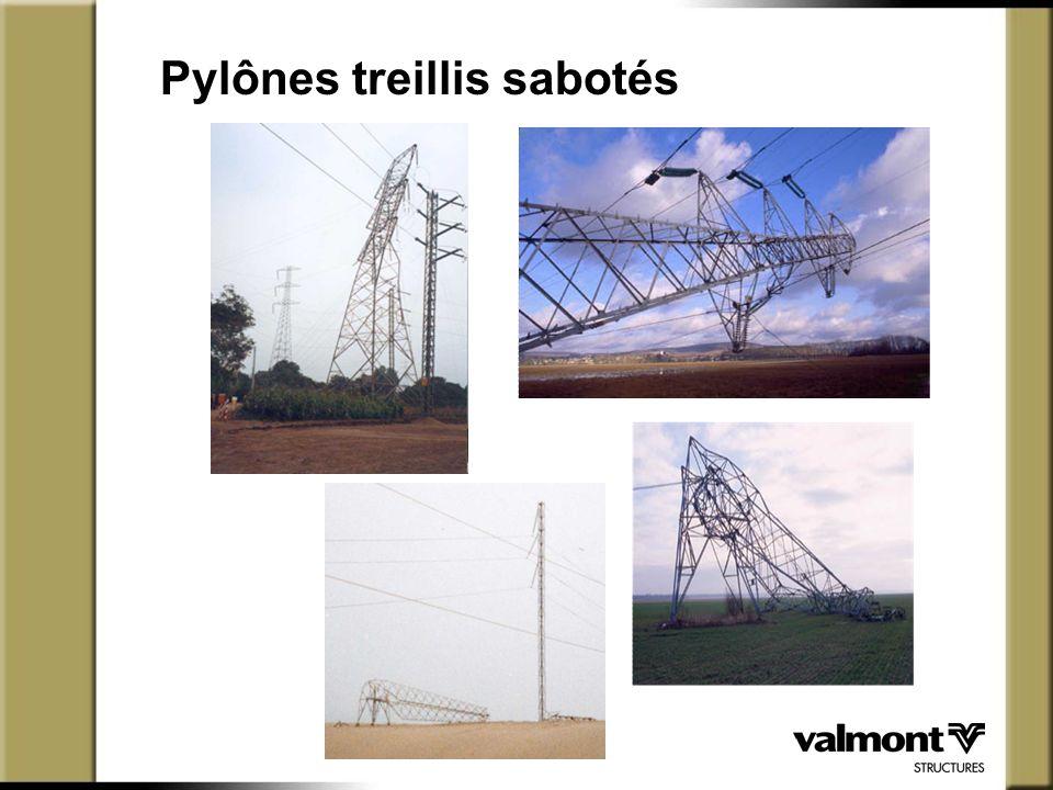 Pylônes treillis sabotés