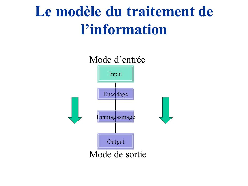 Wechsler et le traitement de l'information INPUT: Comment l'information entre dans le cerveau Généralement, CVI and MTI sont des sous- tests auditifs et RPI et VTI sont visuels, toujours ceux-ci interpellent aussi le traitement auditifs (e.g., consignes) Les aspects liés à l'Input est plus subtiles qu'une simple dichotomie auditif-visuel