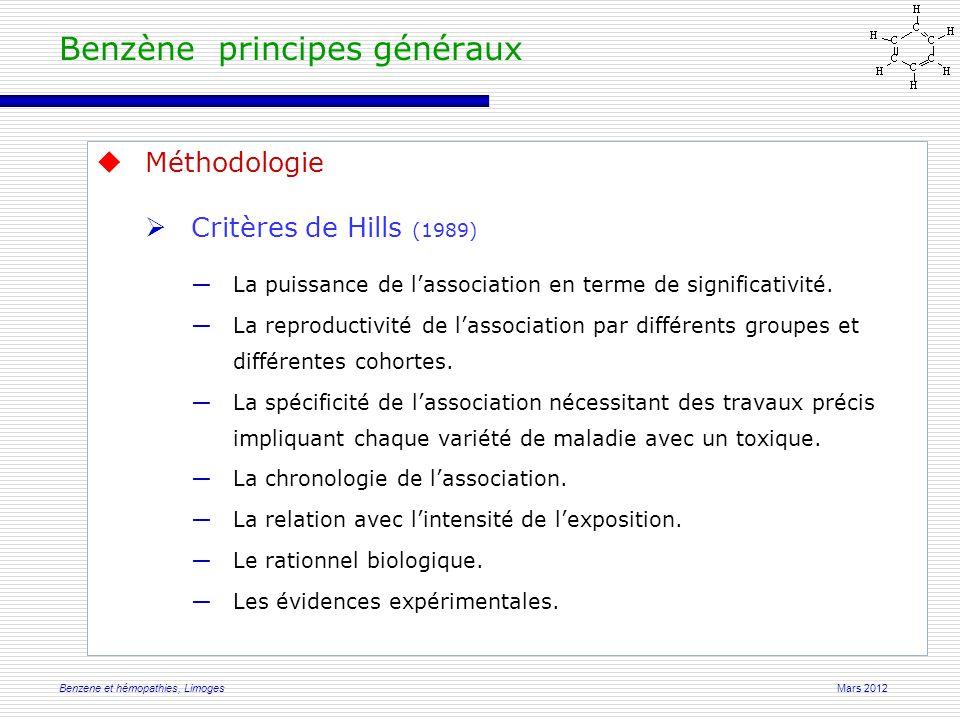 Mars 2012Benzene et hémopathies, Limoges Benzene et leucémie à tricholeucocytes