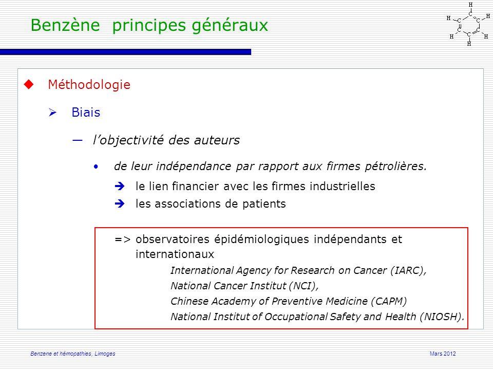 Mars 2012Benzene et hémopathies, Limoges From: Qu et al 2003. HEI Research Report Number 115
