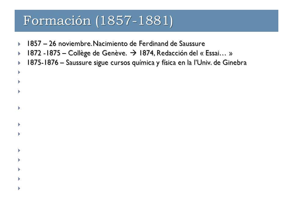 Transición (1891)  1891 – Saussure recibe una condecoración en la orden de la Légion d'honneur « a título extranjero », y un puesto de profesor ordinario en la École normal des hautes études.