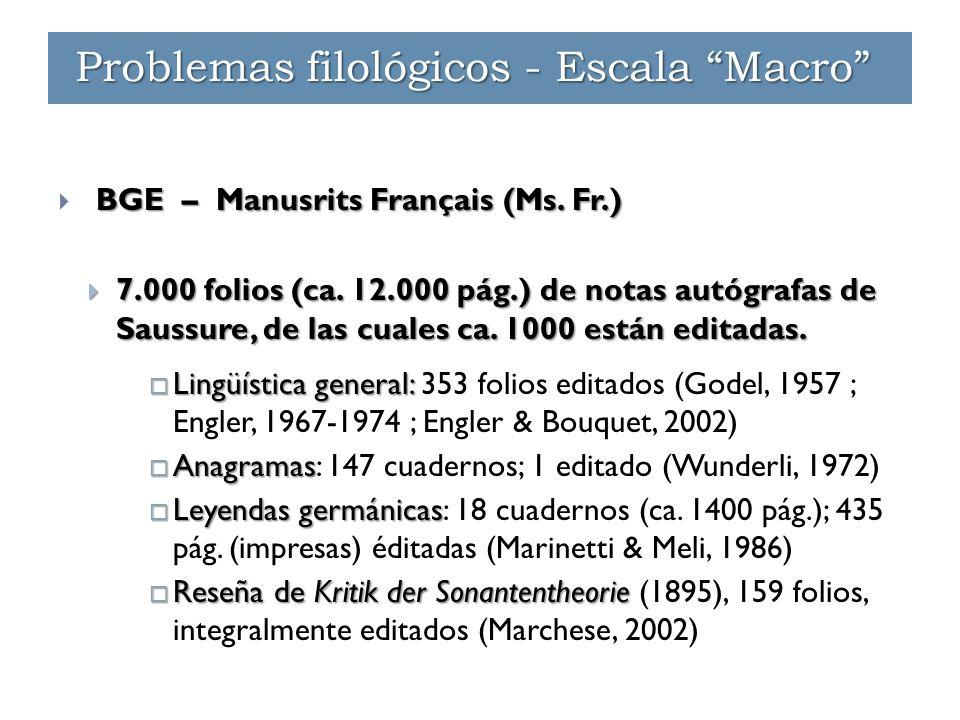 BGE – Manusrits Français (Ms. Fr.)  BGE – Manusrits Français (Ms.