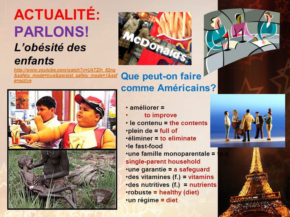 français 6AP le 1 décembre 2011 ActivitéClasseur Une Chanson de Noël DERNIERS MOTS : L'obésité : Le grand débat ! Évaluation Formative I. Jéopardie !