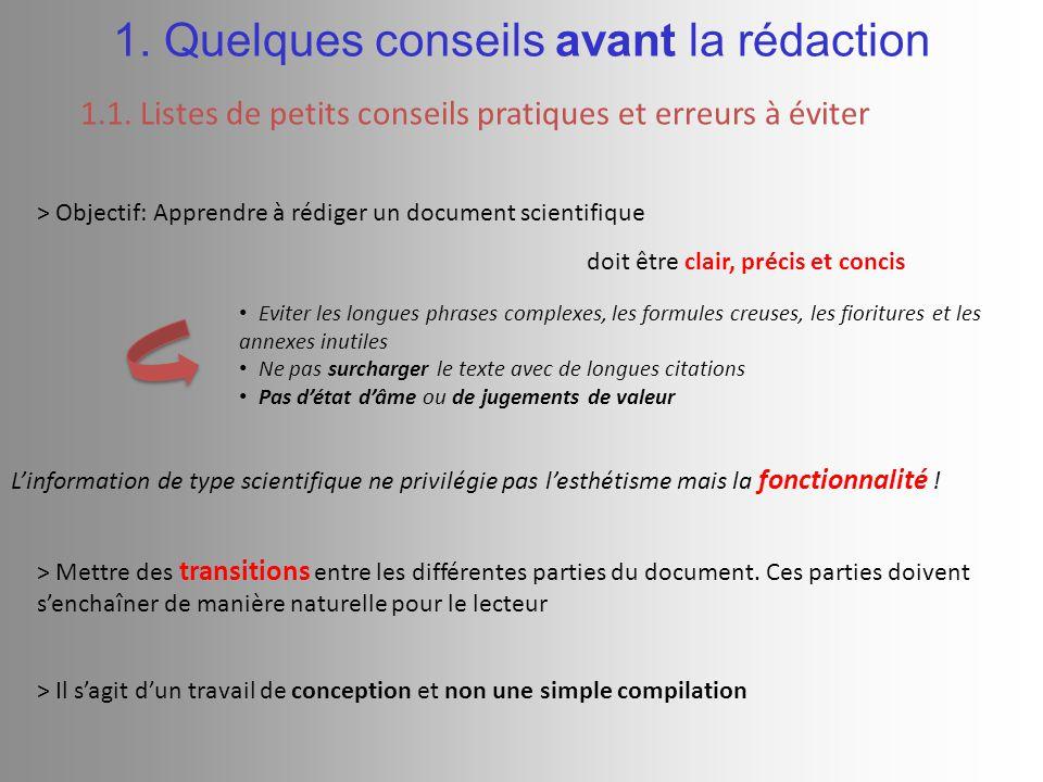 BIBLIOGRAPHIE (normes APA) 2.Rédaction du document 2.2.