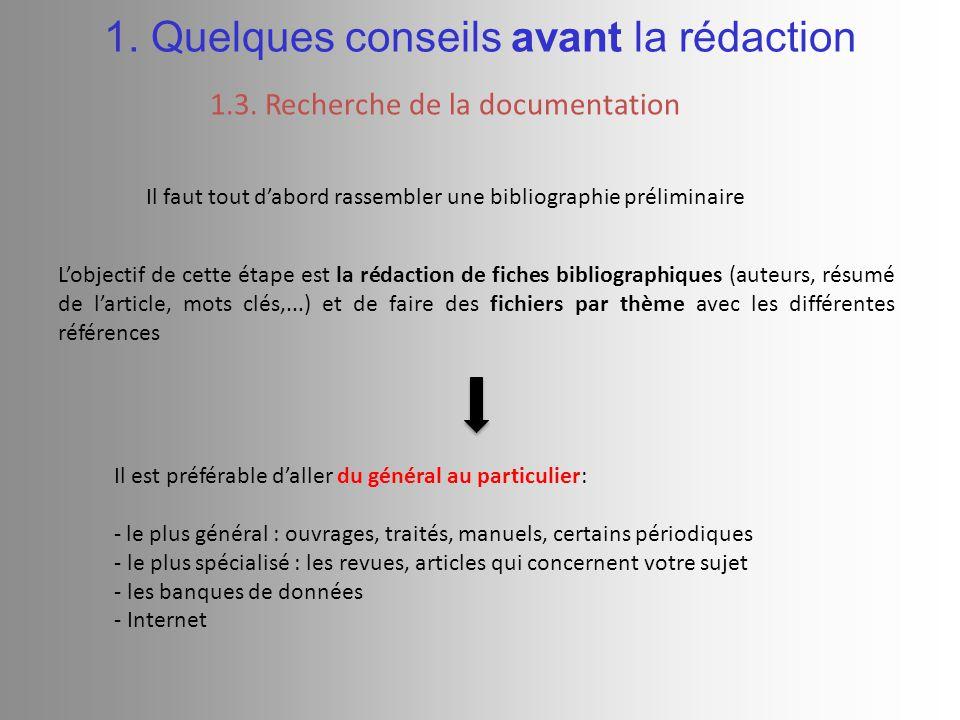 2.Rédaction du document 2.1.