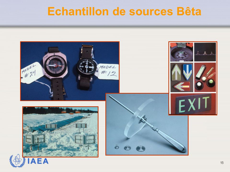 IAEA Echantillon de sources Bêta 15