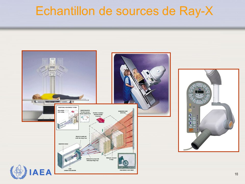 IAEA Echantillon de sources de Ray-X 18