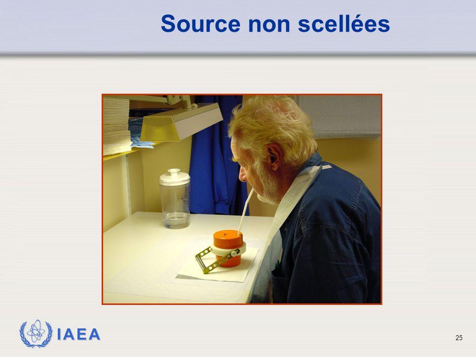 IAEA Source non scellées 25
