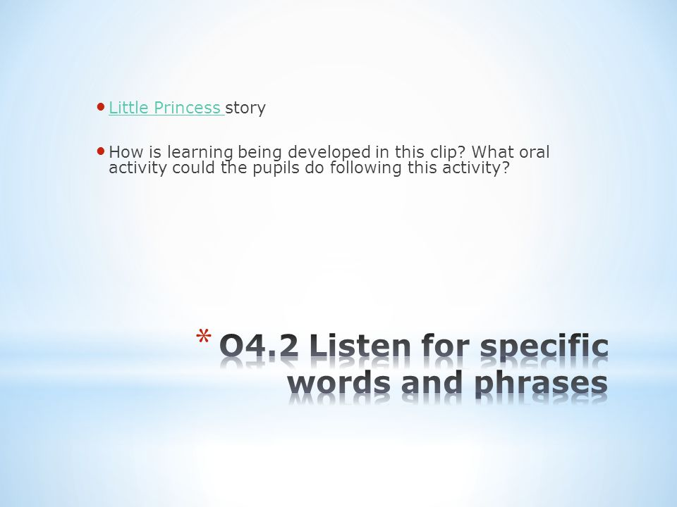Little Princess story Little Princess How is learning being developed in this clip.