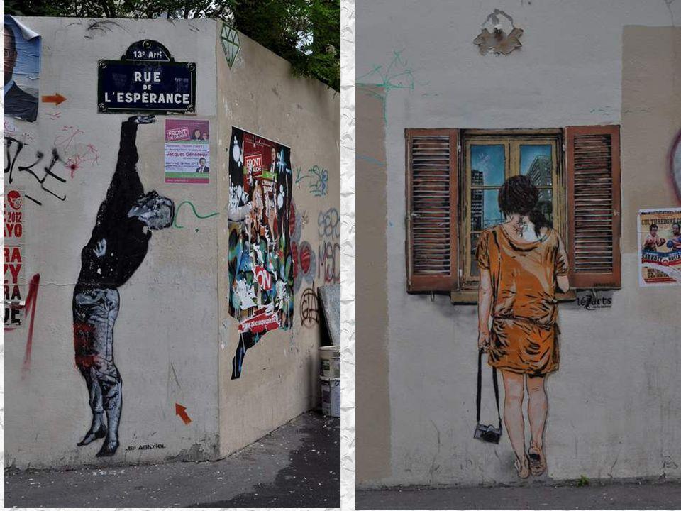 Une série de graffitis due à l artiste Jeff Aérosol Je les ai trouvés magnifiques.