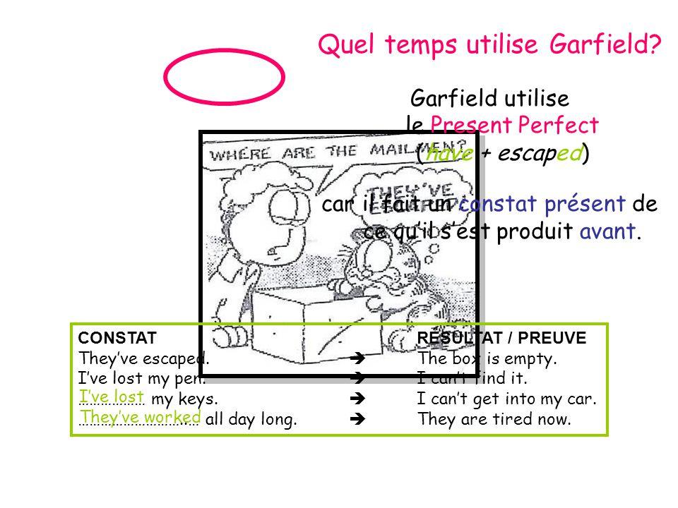 Quel temps utilise Garfield.