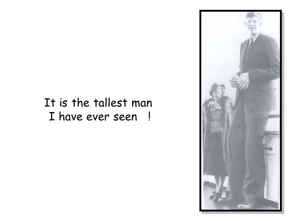 It is the tallest man I have ever seen !