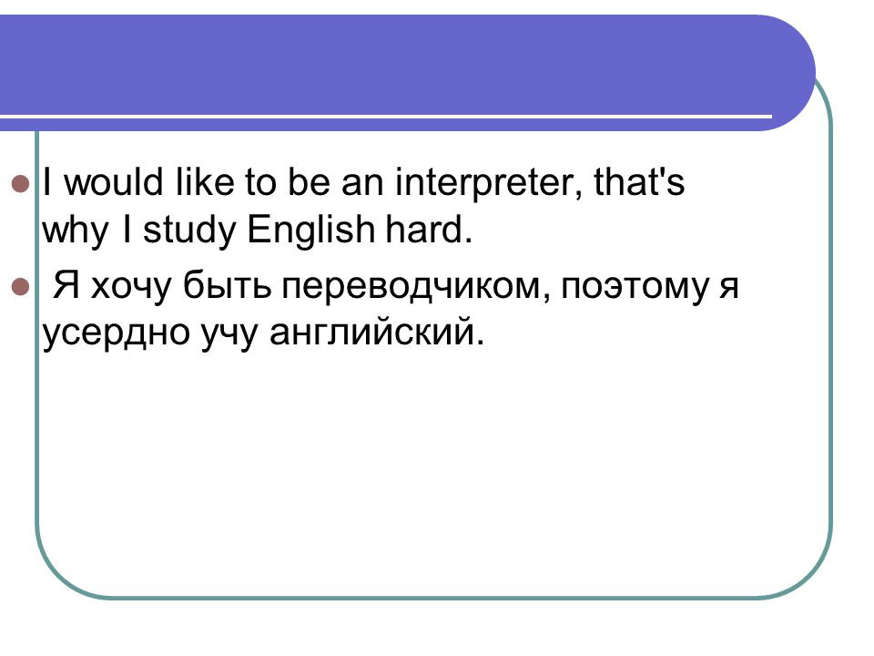 English is really great.It will be useful for my future profession.