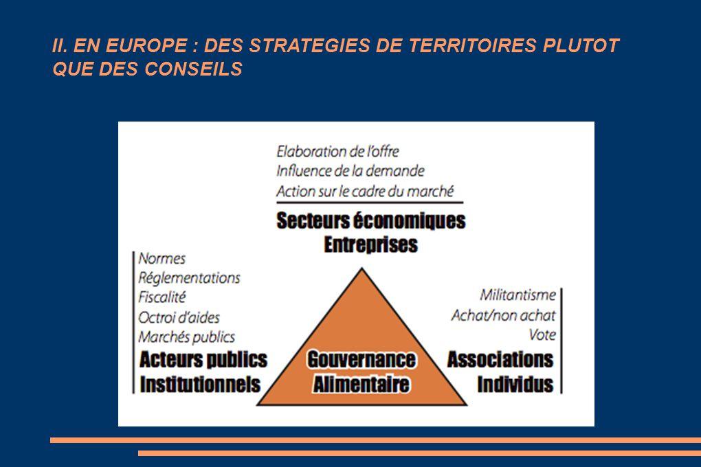 II. EN EUROPE : DES STRATEGIES DE TERRITOIRES PLUTOT QUE DES CONSEILS