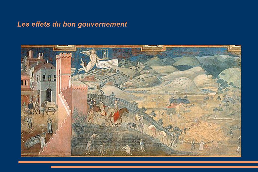 Les effets du bon gouvernement