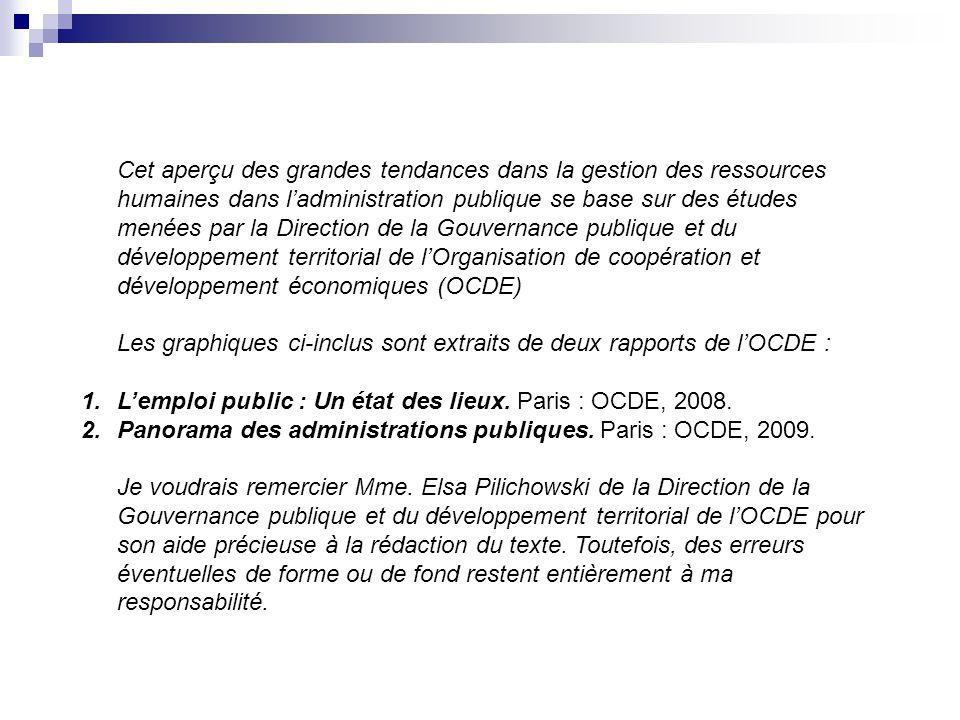4 1. L'emploi et les coûts de production dans les administrations publiques