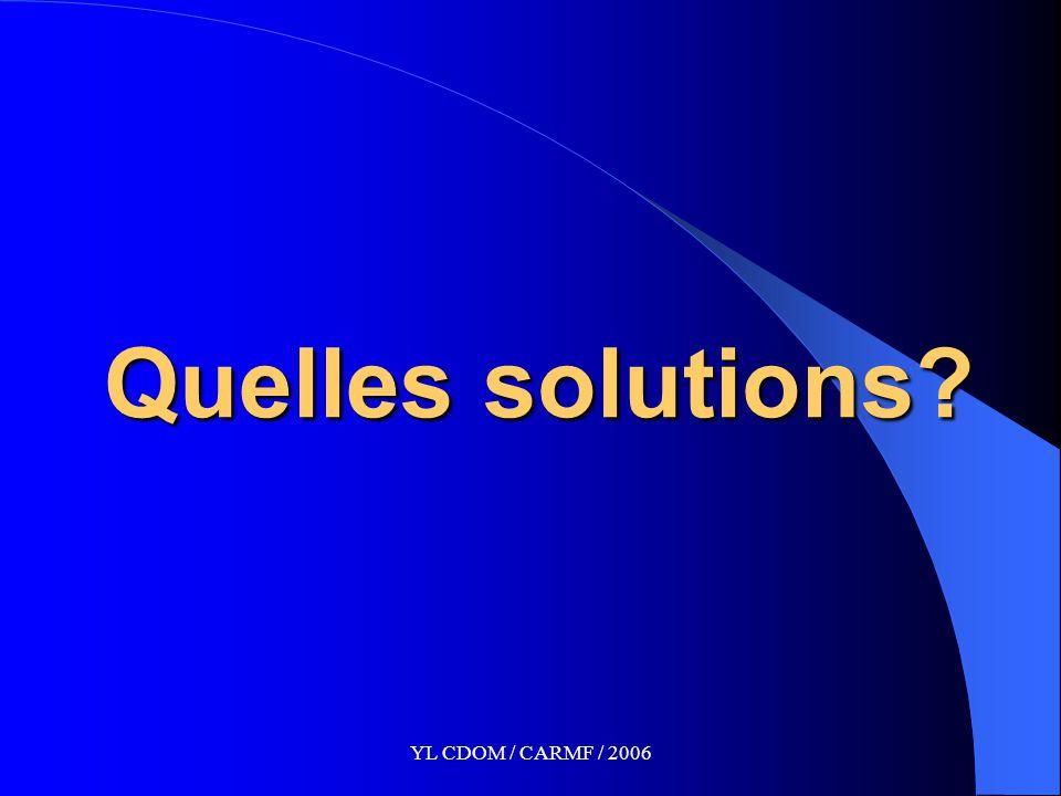 YL CDOM / CARMF / 2006 Quelles solutions?